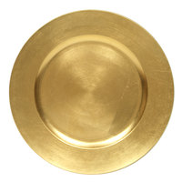 The Jay Companies 13 inch Round Gold Polypropylene Charger Plate