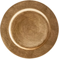 The Jay Companies 1421917AP-F 13 inch Round Gold Plastic Charger Plate
