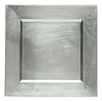 The Jay Companies A81HR-13 13 inch x 13 inch Square Silver Plastic Charger Plate