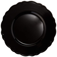 The Jay Companies A215BK 13 inch Round Black Regency Plastic Charger Plate