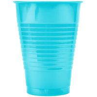 Creative Converting 28103971 12 oz. Bermuda Blue Plastic Cup - 240/Case