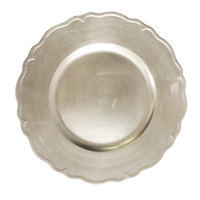 The Jay Companies 13 inch Round Silver Regency Polypropylene Charger Plate
