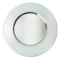 The Jay Companies 1180016 13 inch Round Bridal Stainless Steel Charger Plate