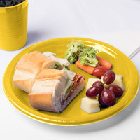 Creative Converting 28102131B 10 inch School Bus Yellow Plastic Plate - 600/Case