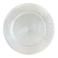 The Jay Companies 1470065 13 inch Round Circus White Glass Charger Plate