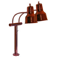 Hanson Heat Lamps EDL/FM/SC Dual Bulb Flexible Heat Lamp with Smoked Copper Finish