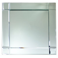 The Jay Companies 13 inch x 13 inch Square Deco Glass Mirror Charger Plate