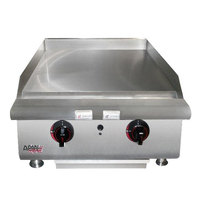 APW Wyott HMG-2472 72 inch Heavy Duty Countertop Griddle with Manual Controls - 198,000 BTU