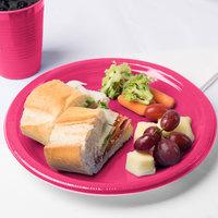 Creative Converting 28177031 10 inch Hot Magenta Pink Plastic Plate - 240/Case