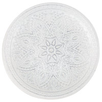 The Jay Companies 1900052 13 inch Round Divine Silver Glass Charger Plate