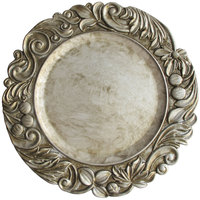 The Jay Companies 14 inch Round Silver Aristocrat Polypropylene Charger Plate