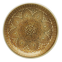 The Jay Companies 13 inch Round Divine Gold Glass Charger Plate