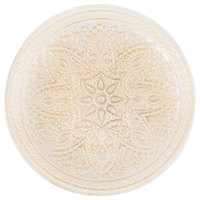 The Jay Companies 1900051 13 inch Round Divine Gold Glass Charger Plate
