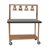Hanson Brass CC1/CART Four Bulb 48 inch Mobile Cart Carving Station
