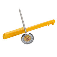 Taylor 6092NYLBC 5 inch Reduce Cross-Contamination Thermometer - Yellow / Poultry