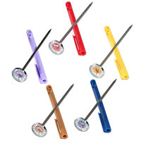 Taylor 6092NFSA 5 inch Reduce Cross-Contamination Thermometers - 5/Set