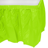 Creative Converting 743123 14' x 29 inch Fresh Lime Green Disposable Plastic Table Skirt