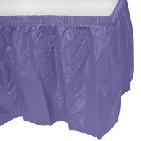 Creative Converting 10039 14' x 29 inch Purple Disposable Plastic Table Skirt