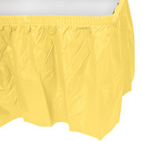 Creative Converting 10035 14' x 29 inch Mimosa Yellow Disposable Plastic Table Skirt