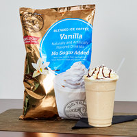 Big Train 3.5 lb. No Sugar Added Vanilla Blended Ice Coffee Mix