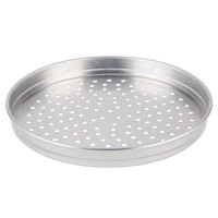 American Metalcraft PHA5112 5100 Series 12 inch Perforated Heavy Weight Aluminum Straight Sided Self-Stacking Pizza Pan