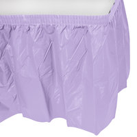 Creative Converting 10034 14' x 29 inch Luscious Lavender Purple Disposable Plastic Table Skirt