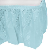 Creative Converting 10037 14' x 29 inch Pastel Blue Disposable Plastic Table Skirt