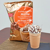 Big Train 3.5 lb. No Sugar Added Mocha Blended Ice Coffee Mix