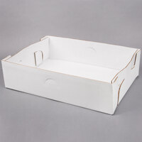 19 inch x 14 inch X 5 inch White Corrugated Tray - 50 / Bundle