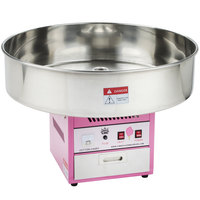 Carnival King CCM28 Cotton Candy Machine with 28 inch Stainless Steel Bowl - 110V