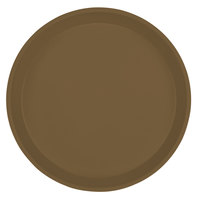 Cambro 1000513 10 inch Round Bay Leaf Brown Fiberglass Camtray - 12/Case