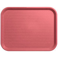 Carlisle CT141856 Customizable Cafe 14 inch x 18 inch Mauve Standard Plastic Fast Food Tray - 12/Case