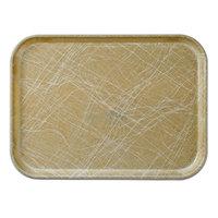 Cambro 2632214 10 7/16 inch x 12 3/4 inch (26,5 x 32,5 cm) Rectangular Metric Abstract Tan Fiberglass Camtray - 12/Case
