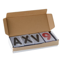 Aarco ROCLTR-1 The Rocker 4 inch Character Set with Black Letters and Red Numbers - 354 Characters