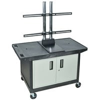 Luxor LE27CWTUD Flat Panel TV Cart with Security Cabinet for Up to 50 inch Screens