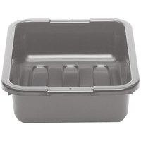 Cambro 1520CBP180 20 inch x 15 inch x 5 inch Light Gray Polyethylene Plastic Bus Box with Flat Bottom