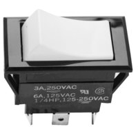 Pitco PP10559 Equivalent Off/On/Momentary On Rocker Switch - 6A/125V, 3A/250V