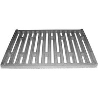All Points 24-1076 11 3/4 inch x 8 1/2 inch Cast Iron Bottom Broiler Grate