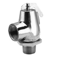 All Points 56-1014 25 PSI Chrome Steam Safety Relief Valve - 3/4 inch NPT, 383 lb./Hour