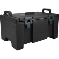 Cambro UPC100110 Black Camcarrier Ultra Pan Carrier with Handles - Top Load for 12 inch x 20 inch Food Pans