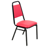 Lancaster Table & Seating Red Stackable Banquet Chair with 1 inch Padded Seat