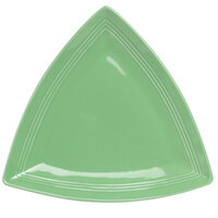 Tuxton Concentrix CTZ-1248 Cilantro 12 1/2 inch Triangle China Plate 6 / Case