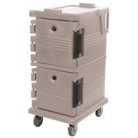 Cambro UPC600194 Ultra Camcarts® Granite Sand Insulated Food Pan Carrier - Holds 8 Pans