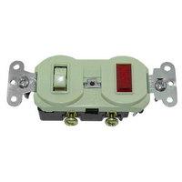 Kason ELE00V0277 Switch with Signal Light; Red; 125V