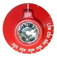 Vulcan 417576-2  Equivalent 2 3/8 inch Red Griddle / Oven BJ Thermostat Dial (Off, Low, 250-500)