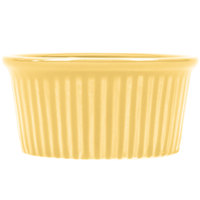 CAC RKF-2YLW Festiware 2 oz. Yellow China Fluted Ramekin - 48/Case