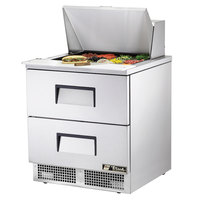 True TFP-32-12M-D-2 32 inch 2 Drawer Mega Top Refrigerated Sandwich Prep Table