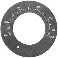All Points 22-1580 Black Grill Control Dial Plate (150-450)
