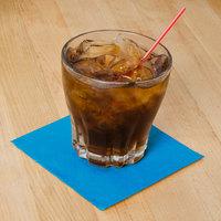 Hoffmaster 180344 Marina Blue Beverage / Cocktail Napkin - 1000/Case