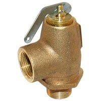 All Points 56-1349 50 PSI Brass Steam Safety Relief Valve - 3/4 inch NPT, 805 lb./Hour
